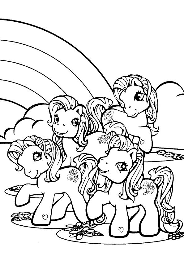 Little Pony Near Rainbow Coloring Page From My Category Select 28448 Printable Crafts Of Cartoons Nature Animals Bible And Many More