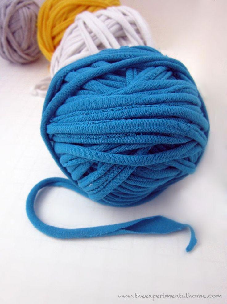 How to make T-shirt Yarn! | Sew 'n sew | Pinterest | Yarns, T Shirt ...