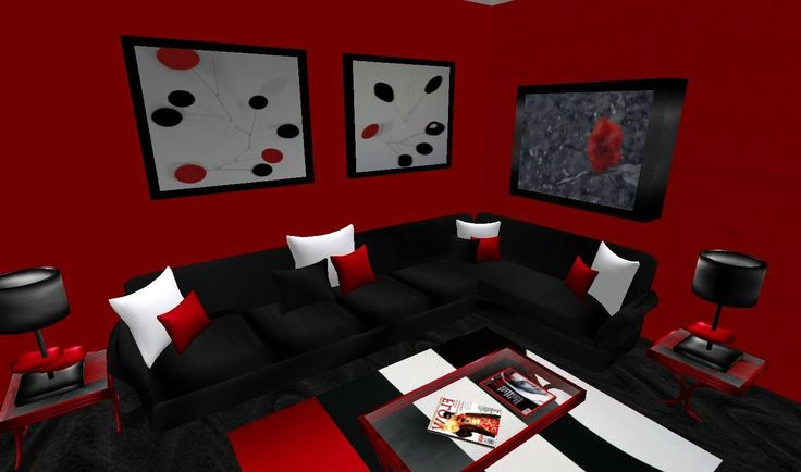 Best Living Room Drop Dead Gorgeous Modern Living Room Red Wall 400 x 300