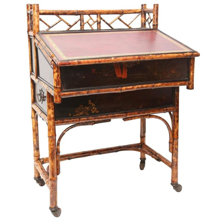 19th Century English Bamboo Desk For Sale at 1stdibs