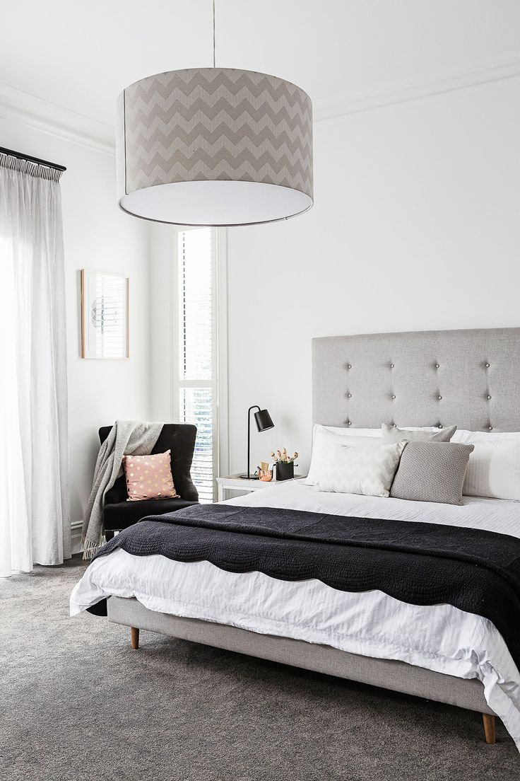 """In the master bedroom, the king-size bed and bedhead were custom-made pieces from [Dwell](http://www.dwell.com/