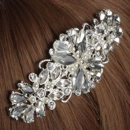 Bride Wedding Artificial Crystal Rhinestone Hair Clip Comb Hairpin Bridal Headpiece