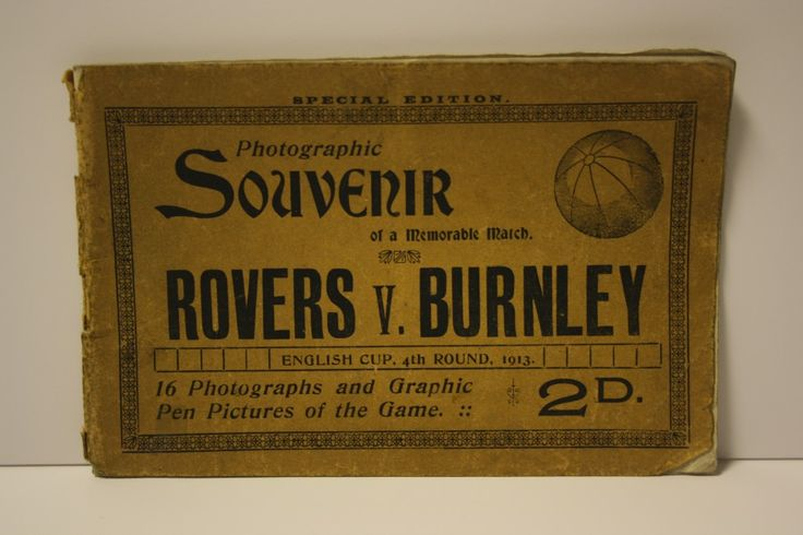 1913 English Cup 4th Round Souvenir - Blackburn Rovers v Burnley #Clarets #BRFC #BFC #FACup