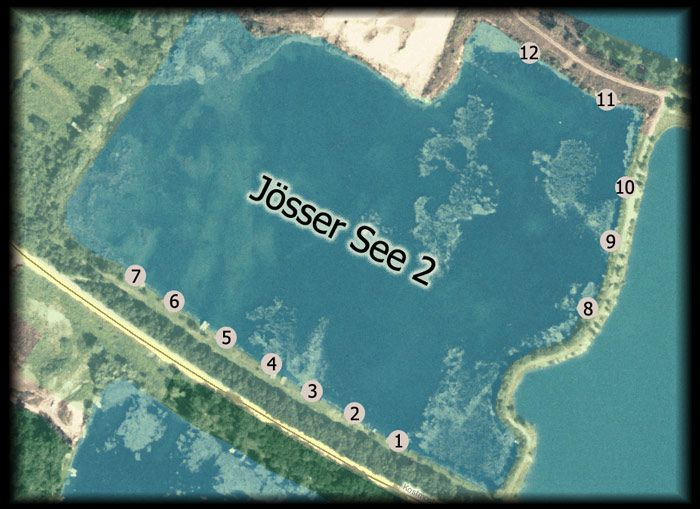 Jösser Lake 2 - Jösser Lake 2has 12 exclusive swims, upon reservation.  The size of the lake is approx. 8 ha, average depths 4 metres and 8.5 metres at its deepe... Check more at http://carpfishinglakes.com/item/josser-lake-2/