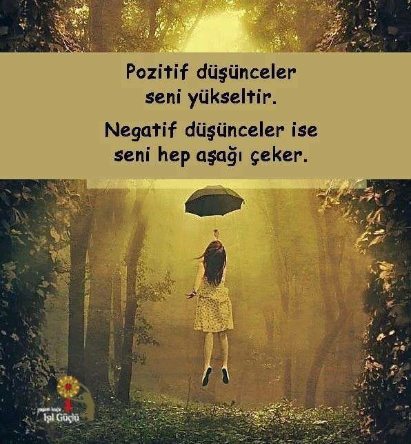 pozitif düşünceler negatif düşünceler