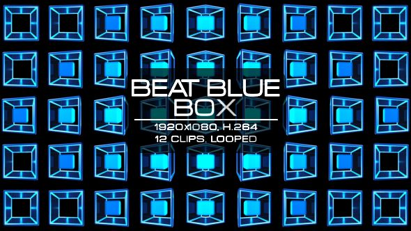 Beat Colourful Box Video Animation |12 clips | Full HD 1920×1080 | Looped | H.264 | Can use for VJ, club, music perfomance, party, concert, presentation | #3d #blue #box #dance #disco #geometric #glow #loop #music #neon #pattern #rave #sequence #techno #vj