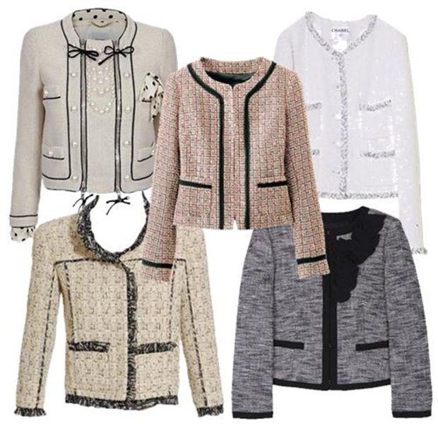 roupas brancas da channel | estampa tweed um dos ícones de Coco Chanel e voltou como tendência ...