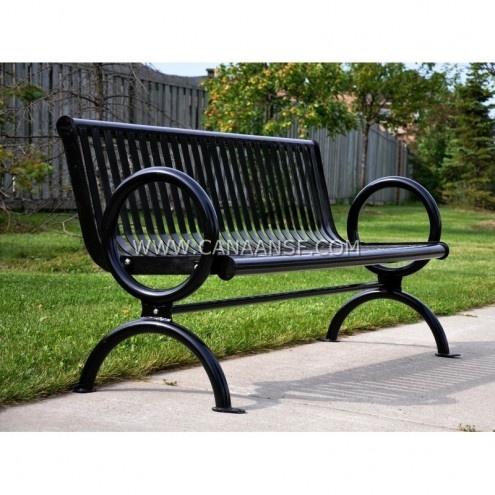 Commercial Outdoor Bench / Park Benches / Street Bench / Metal Bench / Edmonton / Calgary / Canada
