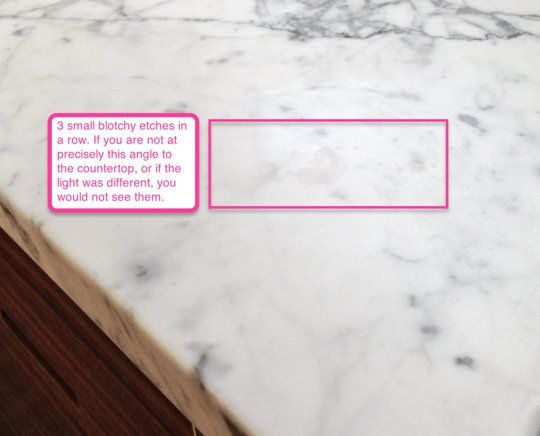 Faith's Kitchen Renovation: How We Finally Got Our Carrara Marble Countertops.  explains considerations on honing the marble and such