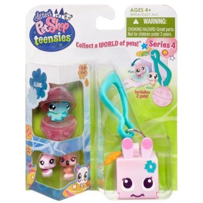 Littlest Pet Shop Teensie $ 3.99 Keychain – Snail and Flamingo