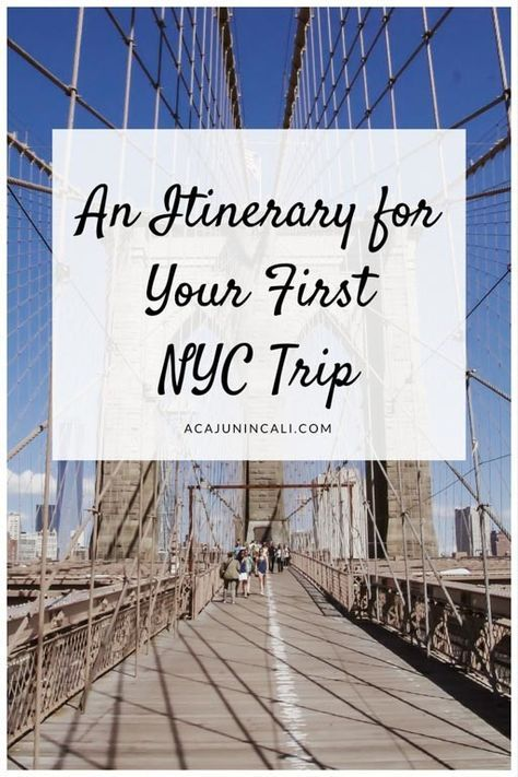 5-Day Itinerary for Your First Time Visit to New York City! #nyc #travelling