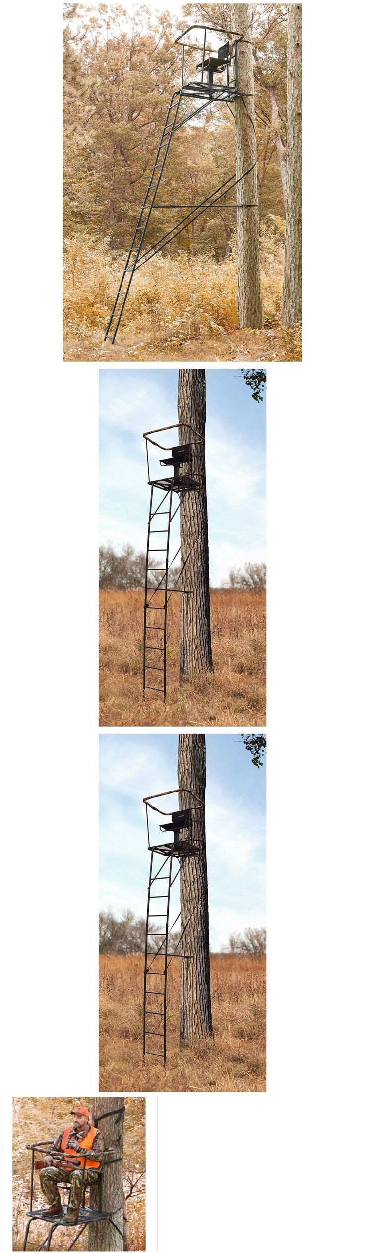 Tree Stands 52508: Ladder Tree Stand 16 Swivel Seat Chair Hunting Platform Deer Climping Big Game BUY IT NOW ONLY: $207.89