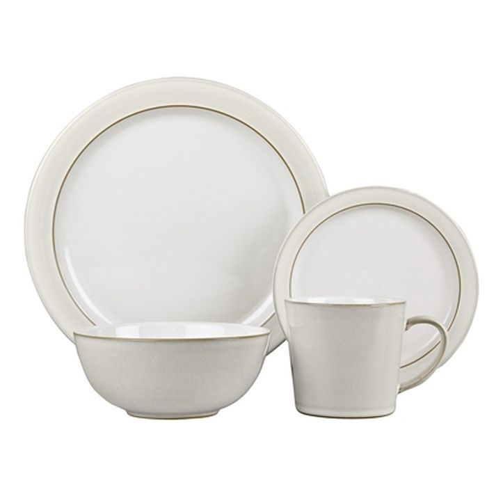 Denby Natural Canvas 16 Piece Tableware Set, Cream