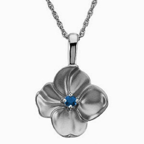 Platinum Chatham Created Sapphire Flower Pendant Gems-is-Me. $1223.93. FREE PRIORITY SHIPPING. This item will be gift wrapped in a beautiful gift bag. In addition, a 'gift message' can be added.. Save 40%!