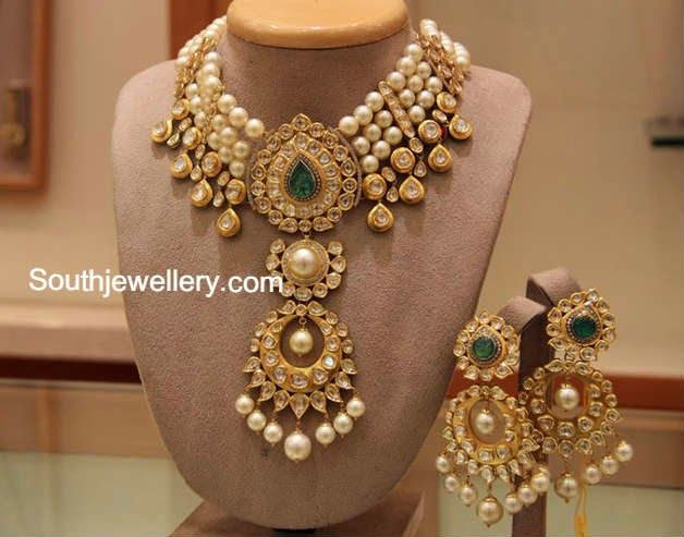 south sea pearls kundan necklace