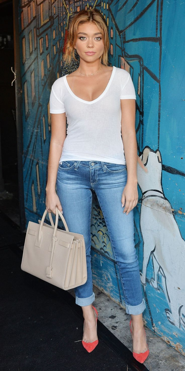 Look of the Day - Sarah Hyland from InStyle.com