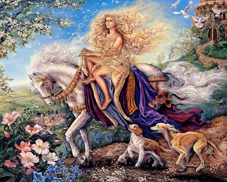 Art Of Imagination : Mystical Fantasy Paintings of Josephine Wall  1280*1024 NO.18 Wallpaper