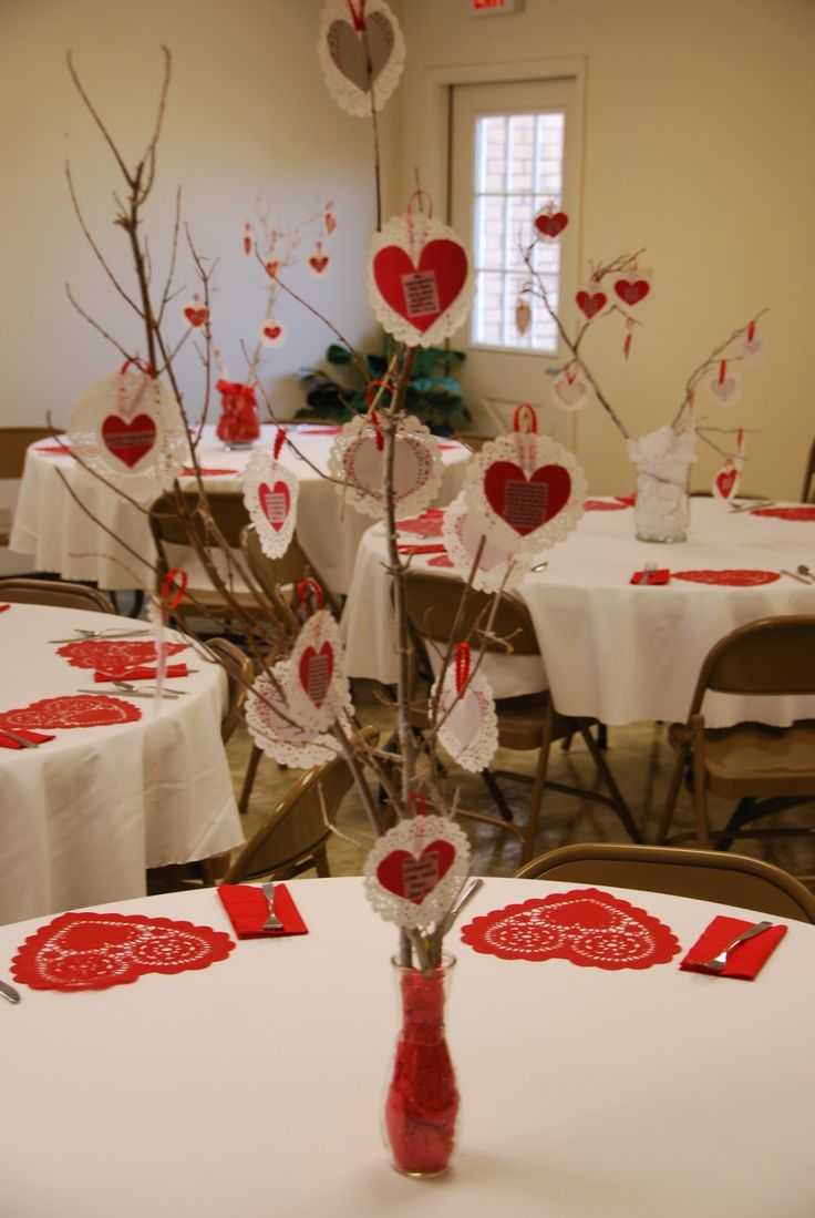 Valentine party ideas for church - Valentines Sweetheart Banquet Table Setting And Decor Valentine Partyvalentine Ideasvalentines