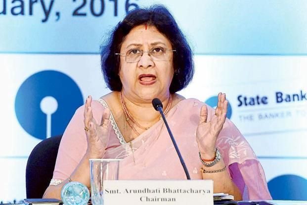 SBI chairman Arundhati Bhattacharya says following demonetisation, money that was in the cupboards is now in the banking system.  Photo: PTI
