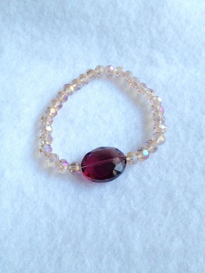 Beautiful Chinese Crystal stretch bracelet find @ www.raescraft.com #fashionjewelry