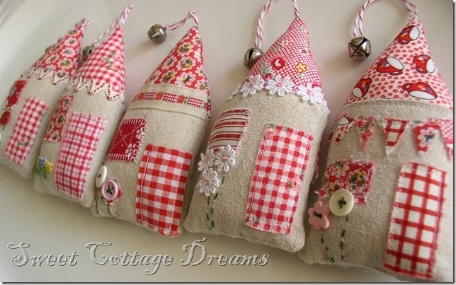 cottage style ornaments--from Sweet Cottage Dreams blog