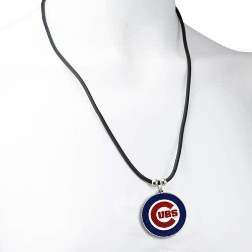 Chicago Cubs Logo Pendant Necklace - MLB Baseball Fan Shop Sports Team Merchandise