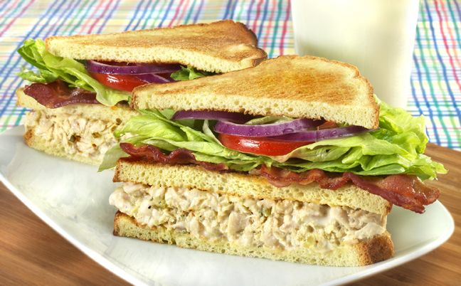 Tuna Club Sandwich Recipe   Healthy Meal Ideas from Bumble Bee