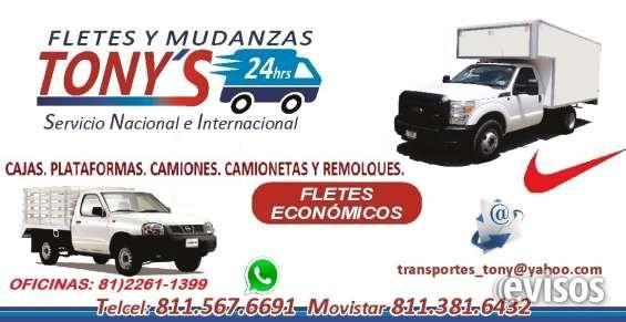 Mudanzas Económicas Express  Transportes, Fletes Y Mudanzas. Tony?s       Servicio Local, Nacional. Unidades propias Reparto Y ...  http://monterrey-city.evisos.com.mx/mudanzas-economicas-express-id-617983