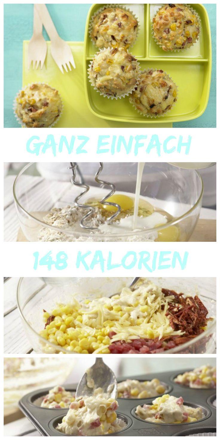 Herzhaft und würzig: Muffins mal ganz anders: Pizza-Muffins | http://eatsmarter.de/rezepte/pizza-muffins