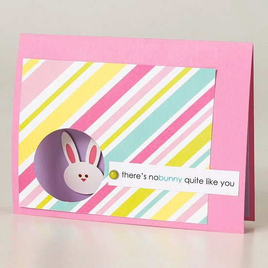 We love this peekaboo bunny card! More easy-to-make #Easter cards: http://www.bhg.com/holidays/easter/crafts/easy-to-make-easter-cards/?socsrc=bhgpin021113eastercard=10