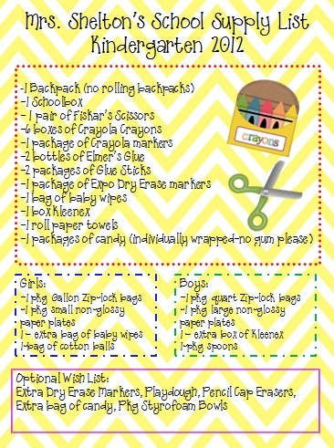 Kindergarten Korner: back to school: Like the idea of separating boy and girl list so you don't get a million of one thing!