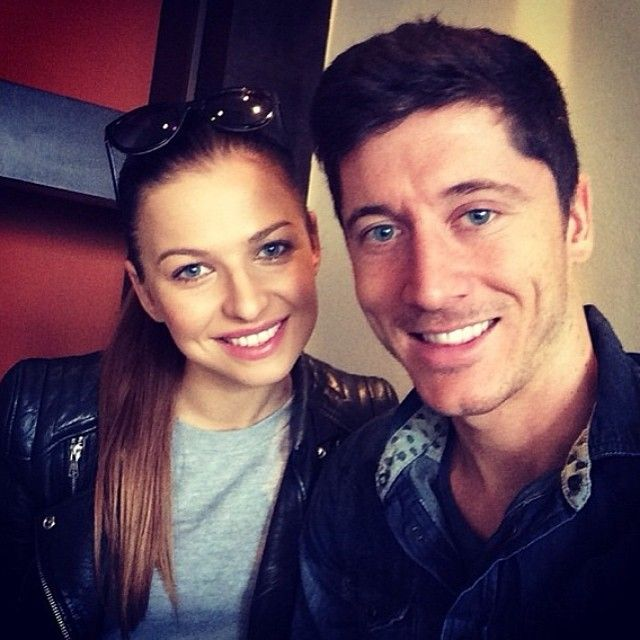 Robert Lewandowski and wife Anna Lewandowska