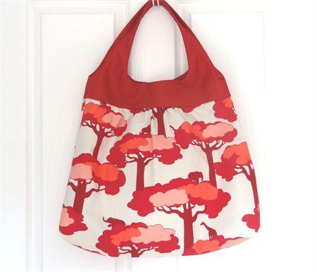 Large Savannah Tote Shoulder Bag with Vinyl Handles