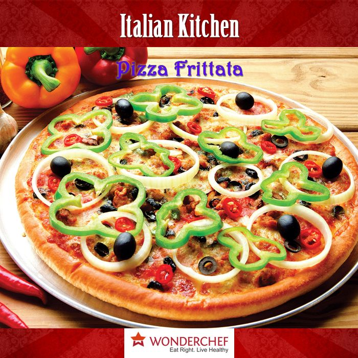 7 best wonderchef pizza pan recipes by chef sanjeev kapoor pizza frittata a pizza with a combination of eggs chicken salami and vegetables forumfinder Image collections