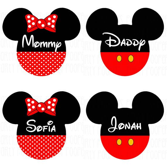 Personalized Disney Family Shirts Iron On Transfers Mickey Mouse and Minnie Mouse ***PLEASE READ ALL OF THE FOLLOWING INFORMATION BEFORE MAKING YOUR