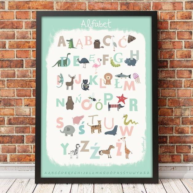 Alfabet Miętowy - SprinklesPosters - Plakaty dla dzieci
