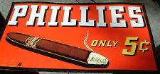 Vintage Original 1940's Phillies Cigars Tin Litho sign in Superb Condition!