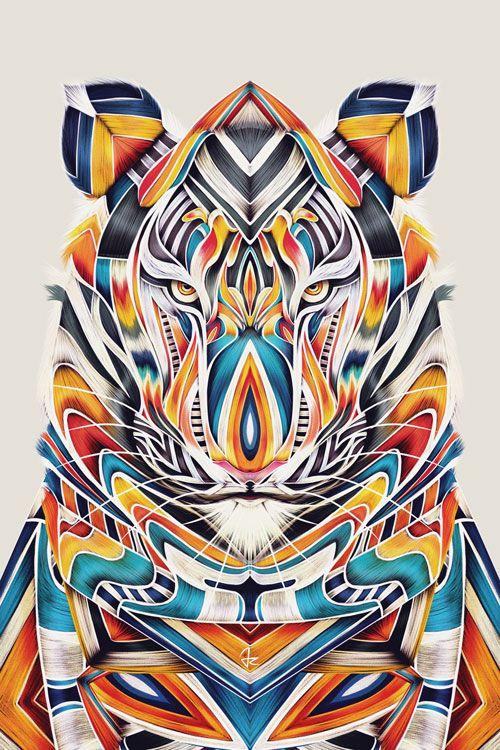 """TyGR"" digital painting by Giulio Rossi https://goo.gl/rsA67T"