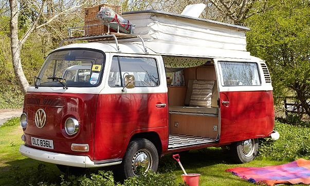 Isle of Wight campers - reminds me of my childhood, I want one!!
