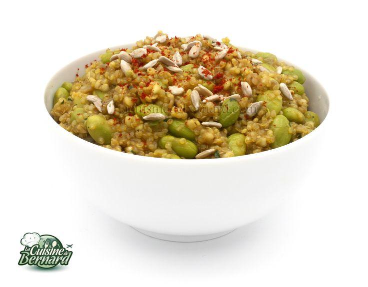 La Cuisine de Bernard : Porridge salé de sarrasin, quinoa et edamame aux épices