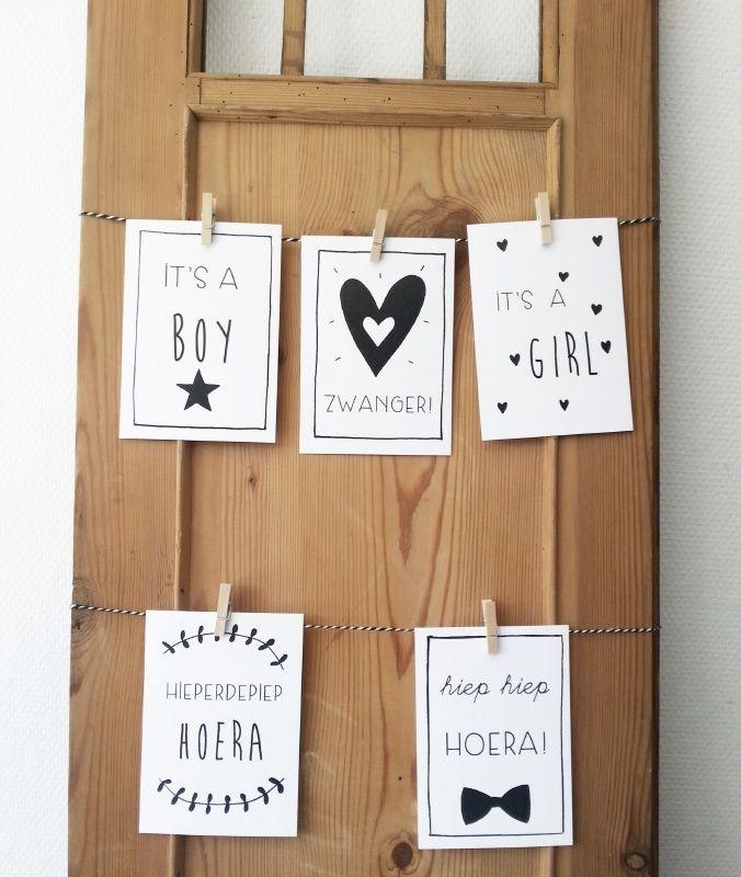 Set kaarten, voor de baby, als ie,and zwanger is of voor een verjaardag, 10 kaarten voor maar €6,95 #set #kaarten #hooraythanks