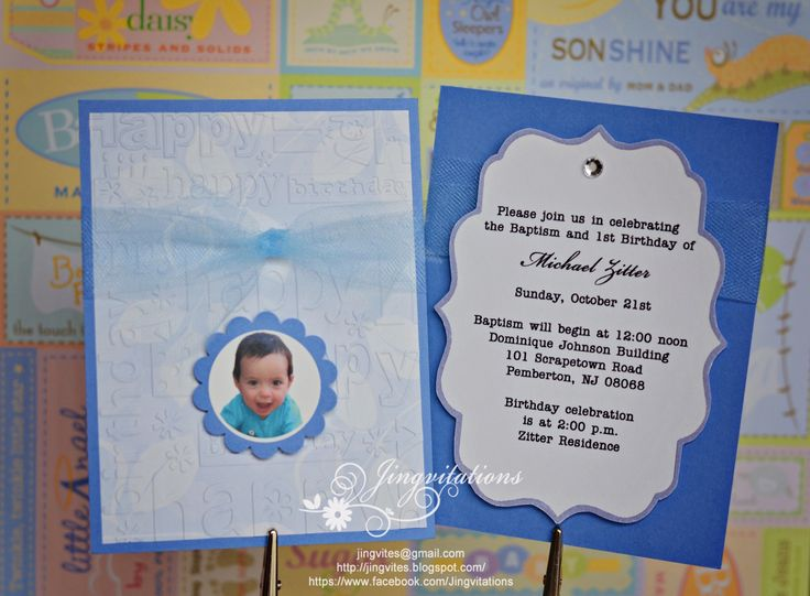 Sample of invitation card for christening and 1st birthday 1st birthday and christening baptism invitation sample stopboris Gallery