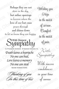 Clear Stamp Set - Sympathy Sentiments