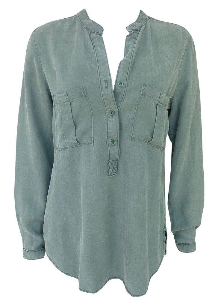 Shirt/Blouse - Mash in Khaki - Maud Dainty