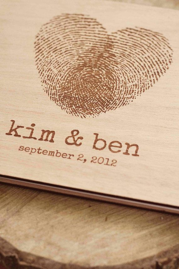 Custom wedding guest book wood rustic wedding by TotallySalinda