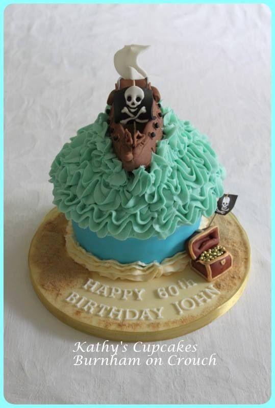 Giant pirate cupcake
