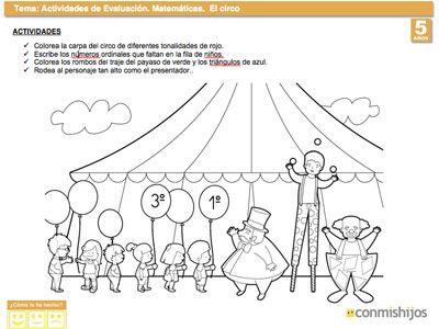 Evaluación de matemáticas para niños de 5 años