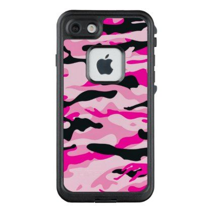 Pink Camouflage LifeProof FRĒ iPhone 7 Case - outdoor gifts unique cyo personalize