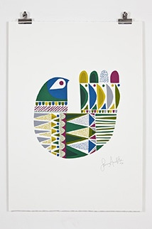 Sanna Annukka is a designer and printmaker. Her style is influenced by her connection with Finland. I love the clean lines of her prints.