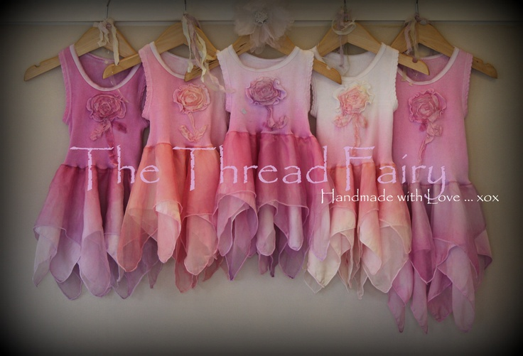 Created with ♥, made by hand ★ Fantasy Inspired ★ Natural Fibres – Silk, Cotton, Linen ★ Hand dyed and embellished ★ Whimsical Wonderings¸.•´ The Thread Fairy´• .¸★